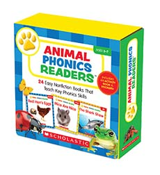 Animal Phonics Readers: 24 Easy Nonfiction Books That Teach Key Phonics Skills-0