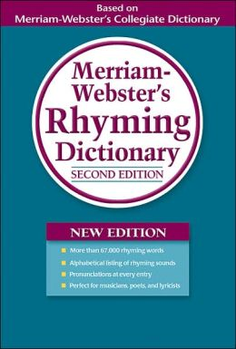Merriam-Webster's Rhyming Dictionary, 2nd. Edition-0